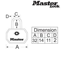Distributor Master Lock  Gembok Kunci Tipe 4681TBLK 3