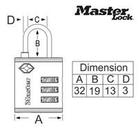 Distributor Master Lock Gembok Kode tipe 4692EURD 3