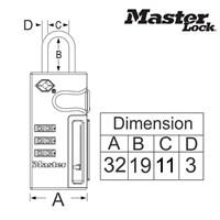 Jual Master Lock Gembok Kode tipe 4693EURDBLU 2