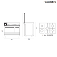 Jual Tecnogas Free Standing P3X66G4VC Terbaru  2