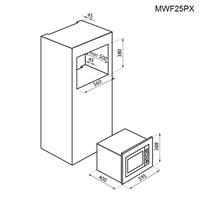 Jual Tecnogas Microwave Tanam MWF25PX 2