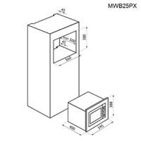 Jual Tecnogas Microwave Tanam MWB25PX Berkualitas  2
