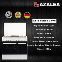 Distributor Azalea ALISTER9BG4VC kompor Gas Free Standing Mewah 2018 3
