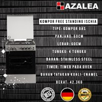 Jual Azalea ISCHIA kompor Free Standing Luxury Premium 2018 2