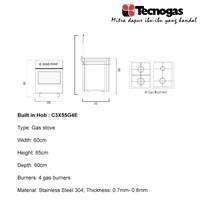 Distributor Tenogas C3X55G4E Kompor Free standing Premium 2018 3