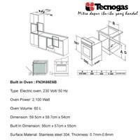 Distributor Tecnogas FN3K66EB Oven Luxury Kualitas Terbaik 3
