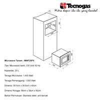 Distributor Tecnogas MWF25PX Oven sweet premium  3