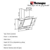 Jual Tecnogas TECNO80GL Cooker Hood New 2018 2