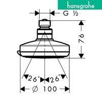 Jual hansgrohe croma 100 vario overhead shower 2