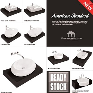 American Standard Special package Wastafel New MIZU 45 complet set