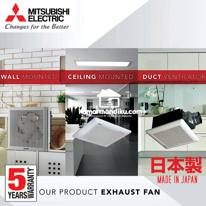 Sell Mitsubishi Exhaust Fan Dinding 8 inch EX20RHKC5T Wall Mounted in/out  from Indonesia by Home Sweet Home,Cheap Price