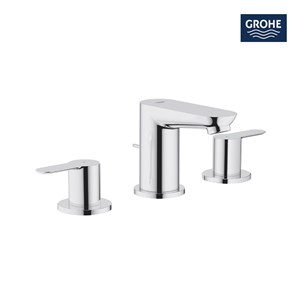 Grohe Bau Edge 3 Hole Basin Mixer