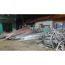 Tiang PJU Octagonal 7M single ornamen