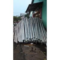 Tiang Lampu Bulat PLTS 1
