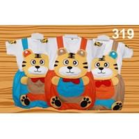 Setelan Baju Kodok Anak Karakter Tiger Dasi 1