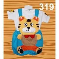 Distributor Setelan Baju Kodok Anak Karakter Tiger Dasi 3