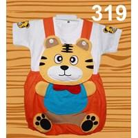 Setelan Baju Kodok Anak Karakter Tiger Dasi Murah 5