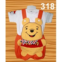 Jual Setelan Baju Kodok Anak Pooh Syal 2