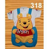 Distributor Setelan Baju Kodok Anak Pooh Syal 3