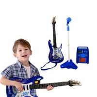 Mainan Gitar Anak Set Mikrophone & Ampilifier (HK-8010D)