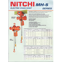 Sell Nitchi Mh 5 Series Electric Chain Hoists From