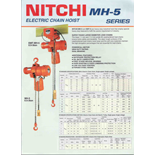 NITCHI MH-5 Series Electric Chain Hoists