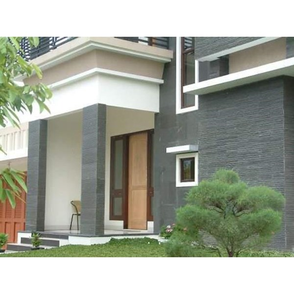 Exterior House with natural stone