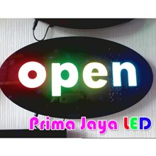 LED Sign Open Bulat