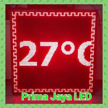 Red LED Temperature Display