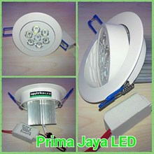 LED Ceiling Donwlight 7 Watt Body Putih