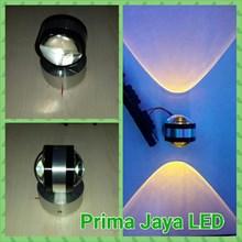 LED Dinding Model Bola 2 Arah Kuning