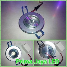 Lampu LED Ceiling 1 Watt Body Silver