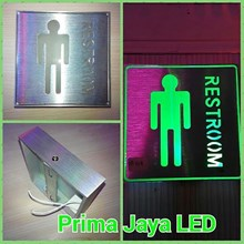 Lampu LED Sign Restroom Man