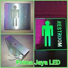 Lampu LED Sign Restroom Man
