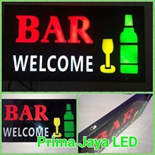 Lampu LED Sign Welcome BAR