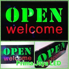 Lampu Teks LED Open Welcome