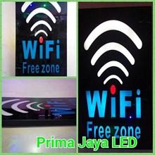 LED Tulisan WIfi Free Zone