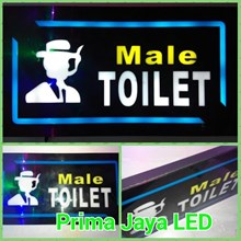 Sign Lampu LED Toilet Male