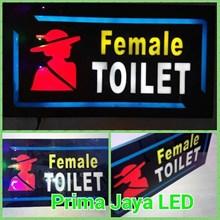 Lampu LED Petunjuk Toilet Female