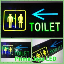 Lampu Sign LED Toilet Panah