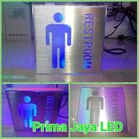 Sign LED Restroom Pria Biru 1