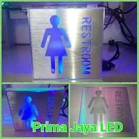 Sign LED Kotak Restroom Women 1