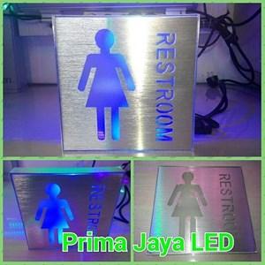Sign LED Kotak Restroom Women