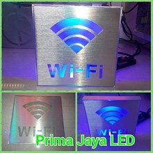 Sign LED Wifi Kotak Biru