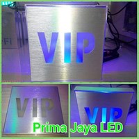 Lampu Sign LED VIP Biru 1