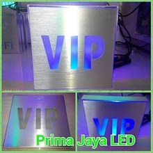 Lampu Sign LED VIP Biru