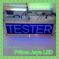 Display LED Biru 70 X 21 Cm 1