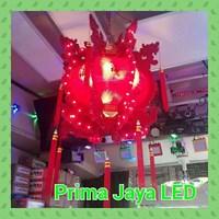 Lentera Berputar Merah LED 1
