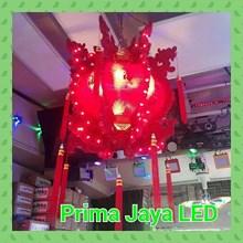 Lentera Berputar Merah LED