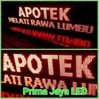 Running Teks LED Merah 169 X 41 1
